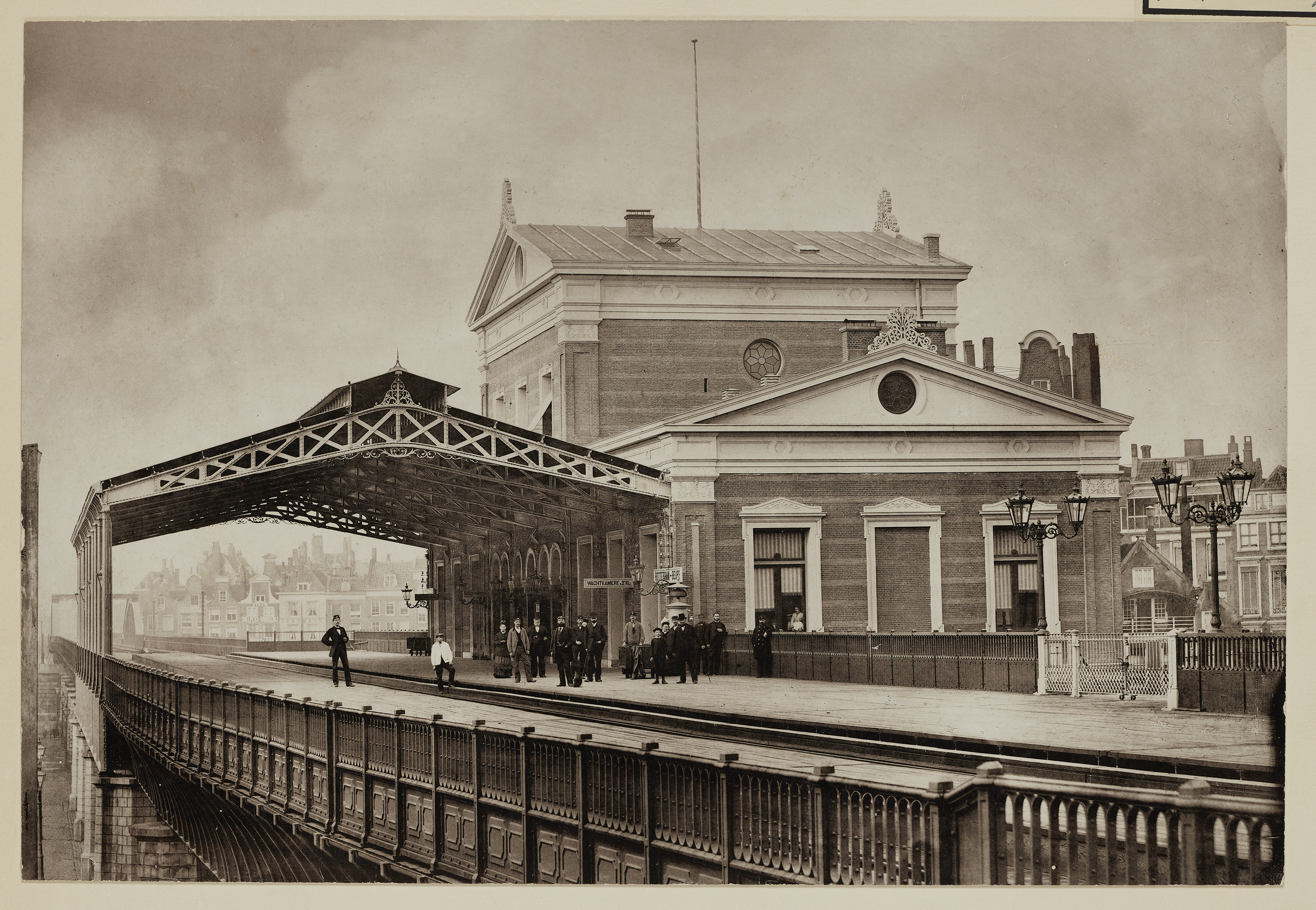 Station Rotterdam Beurs in 1877